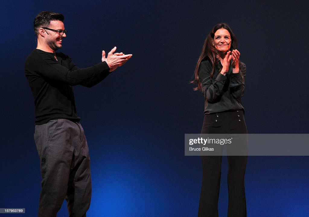 Ricky Martin and Katie Holmes host the 2012 Gypsy Of The Year Competition benefitting Broadway Cares Equity Fights AIDS at The New Amsterdam Theatre on December 7, 2012 in New York City.