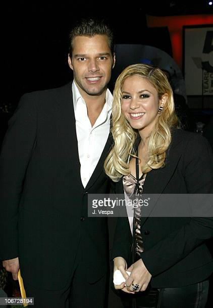 Ricky Martin and Shakira during UNICEF Goodwill Gala Celebrating 50 Years of Celebrity Goodwill Ambassadors Backstage and Audience at Beverly Hills...