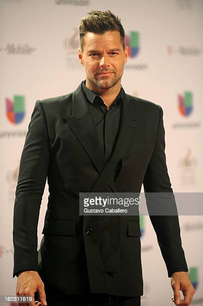 Ricky Martin arrives at the 25th Anniversary Of Univision's 'Premio Lo Nuestro A La Musica Latina' on February 21 2013 in Miami Florida