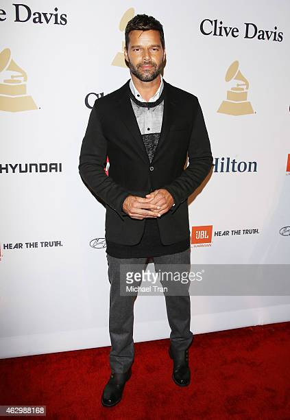 Ricky Martin arrives at The Grammy Awards PreGrammy Gala held at The Beverly Hilton Hotel on February 7 2015 in Beverly Hills California