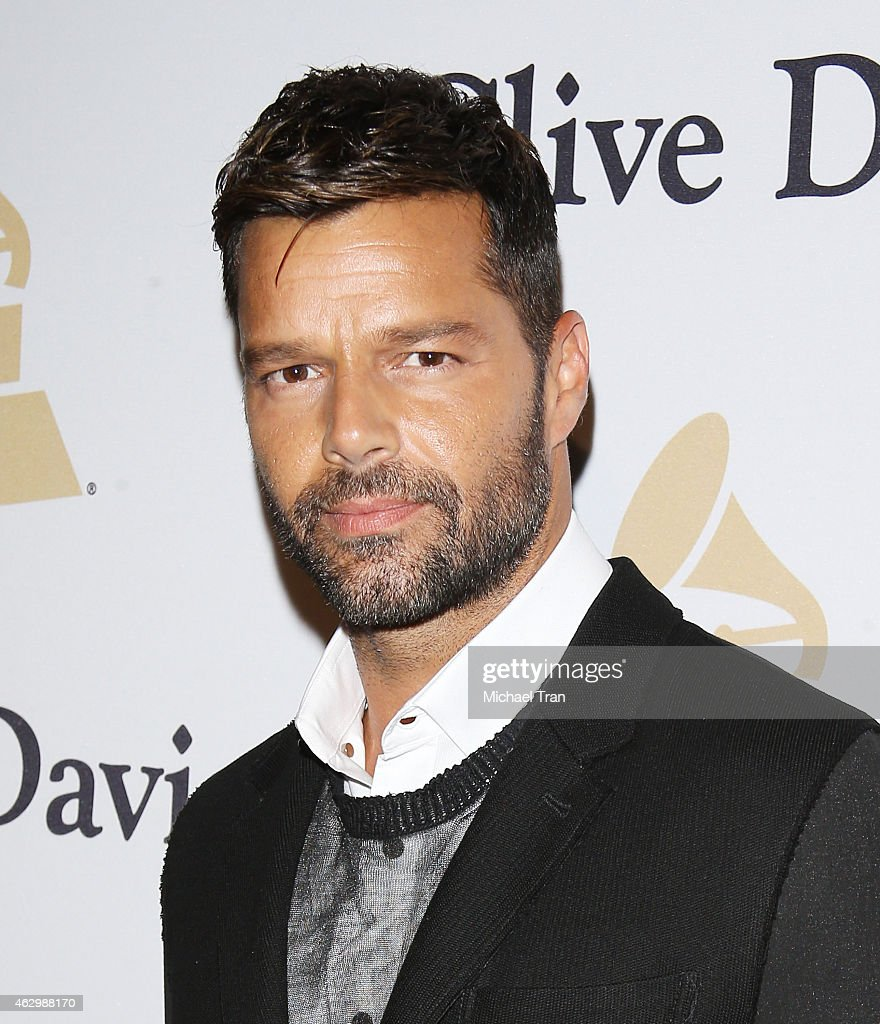 <a gi-track='captionPersonalityLinkClicked' href=/galleries/search?phrase=Ricky+Martin&family=editorial&specificpeople=160450 ng-click='$event.stopPropagation()'>Ricky Martin</a> arrives at The Grammy Awards Pre-Grammy Gala held at The Beverly Hilton Hotel on February 7, 2015 in Beverly Hills, California.