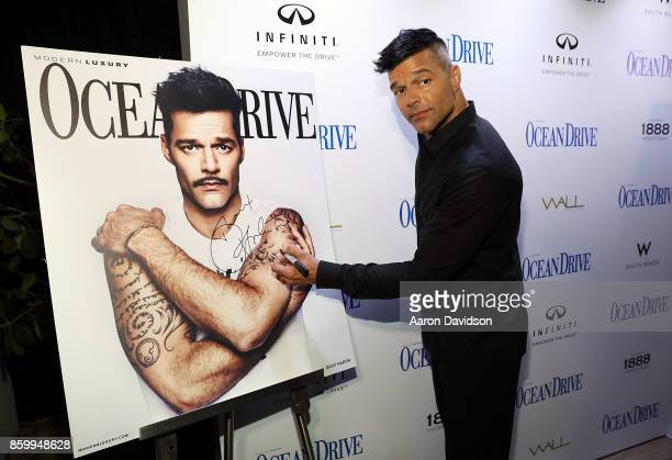 Ricky Martin attends a benefit for hurricane victims in Puerto Rico hosted by Ricky Martin and Ocean Drive Magazine at the magazine's October issue...
