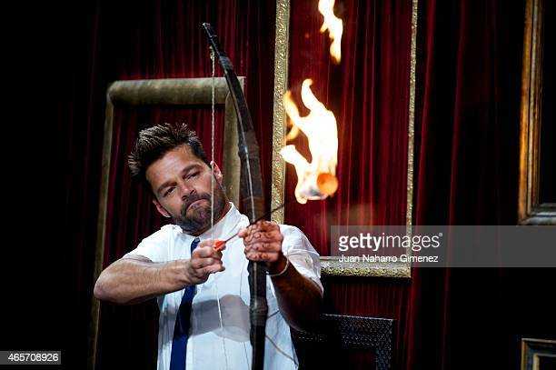 Ricky Martin attends 'El Hormiguero' Tv show at Vertice Studio on March 9 2015 in Madrid Spain