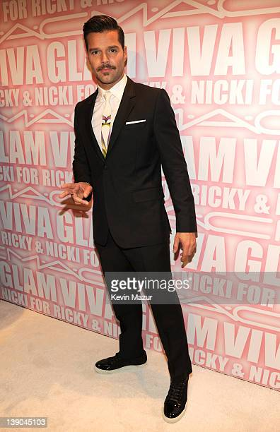 Ricky Martin attends MAC Cosmetics celebrates the Viva Glam launch with Nicki Minaj and Ricky Martin at Stage 37 on February 15 2012 in New York City