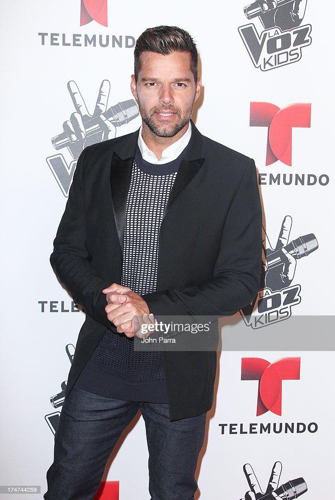 Ricky Martin attends Telemundo's 'La Voz Kids Finale on July 27, 2013 in Miami, Florida.