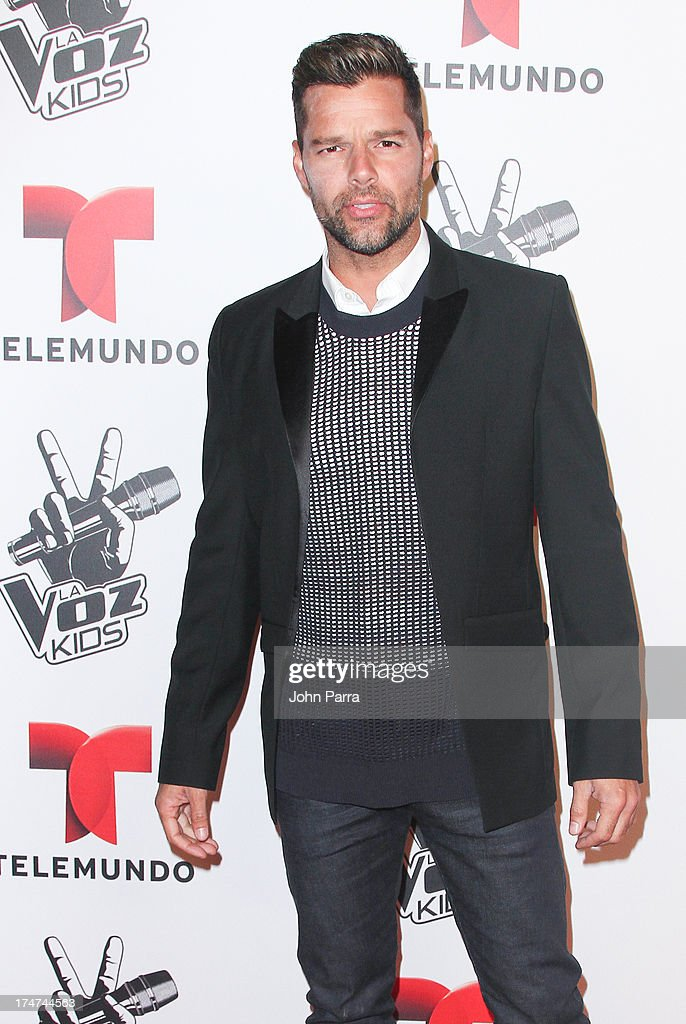 Ricky Martin attends Telemundo's 'La Voz Kids Finale on July 27, 2013 in Miami, Florida.