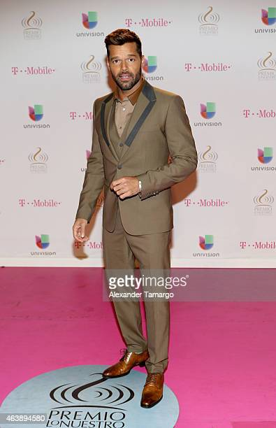 Ricky Martin attends the 2015 Premios Lo Nuestros Awards at American Airlines Arena on February 19 2015 in Miami Florida