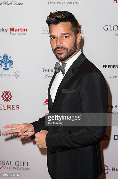 Ricky Martin attends the 5th Global Gift Gala hosted by honorary chair Eva Longoria at the Four Seasons Hotel on November 17 2014 in London England