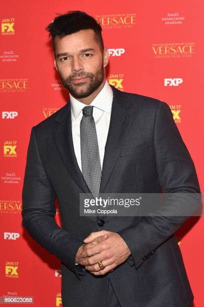 Ricky Martin attends 'The Assassination Of Gianni Versace American Crime Story' New York Screening at Metrograph on December 11 2017 in New York City