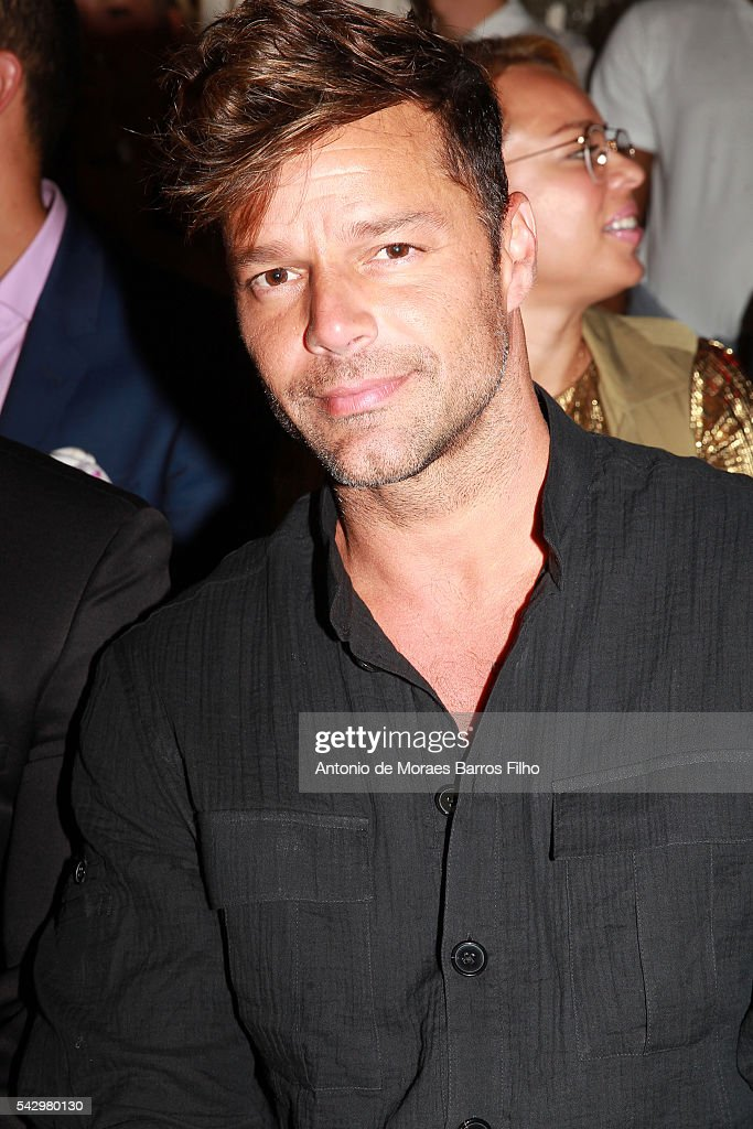 Ricky Martin attends the Balmain Menswear Spring/Summer 2017 show as part of Paris Fashion Week on June 25, 2016 in Paris, France.