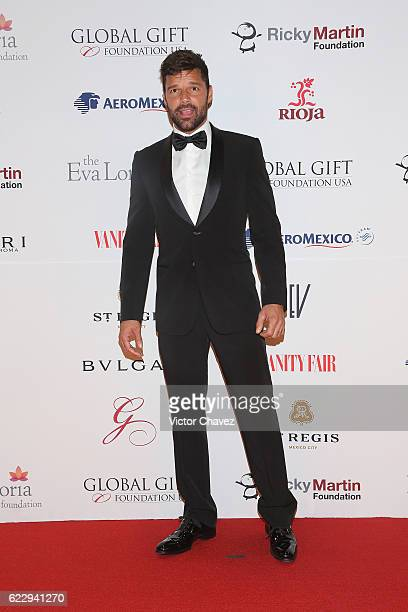 Ricky Martin attends the Global Gift Gala Mexico City at Torre Virrelles on November 12 2016 in Mexico City Mexico