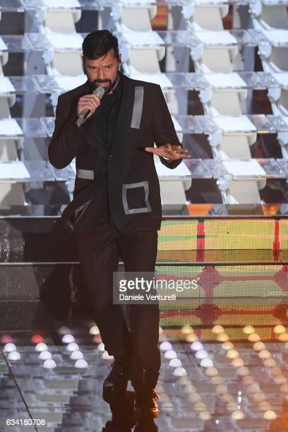 Ricky Martin attends the opening night of the 67th Sanremo Festival 2017 at Teatro Ariston on February 7 2017 in Sanremo Italy