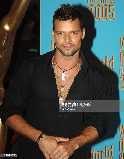 Ricky Martin during 2005 World Music Awards Arrivals at Kodak Theater in Hollywood California United States