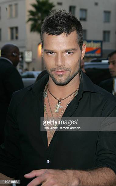 Ricky Martin during 2005 World Music Awards Red Carpet at Kodak Theatre in Los Angeles CA United States