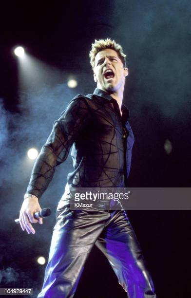 Ricky Martin during 'Livin La Vida Loca' Tour at Madison Square Garden in New York City New York United States