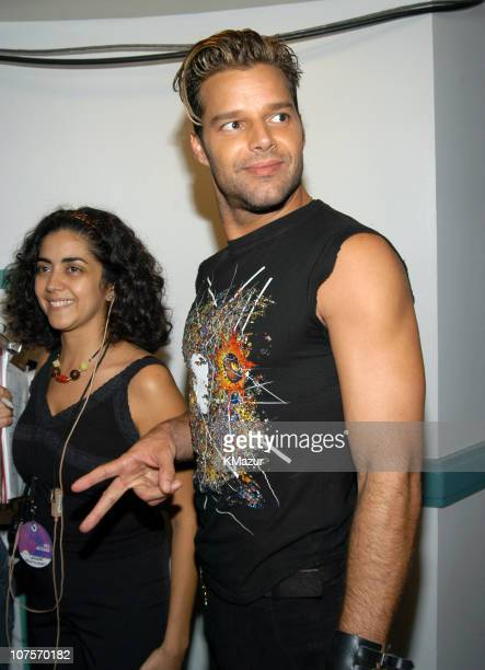 Ricky Martin during MTV Video Music Awards Latin America 2003 Backstage and Audience at The Jackie Gleason Theater in Miami Beach Florida United...