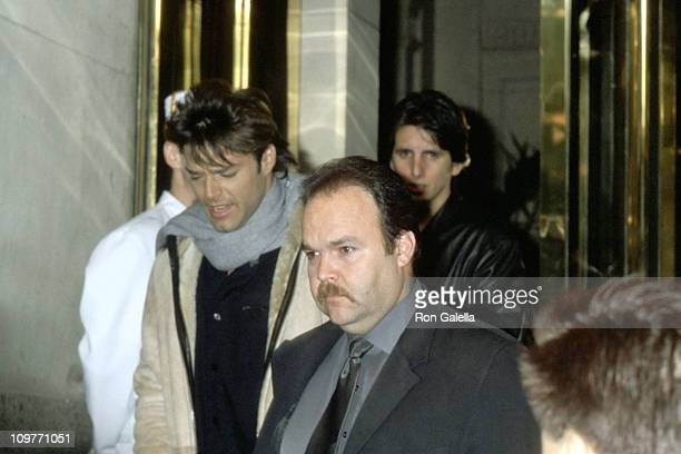 Ricky Martin during Ricky Martin Leaves Penisula Hotel for Concert at Madison Square Garden December 14 2000 at Peninsula Hotel in New York City New...