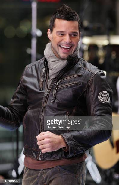 Ricky Martin during Ricky Martin Performs on NBC's 'The Today Show' November 9 2005 at NBC Studios Rockefeller Plaza in New York City New York United...