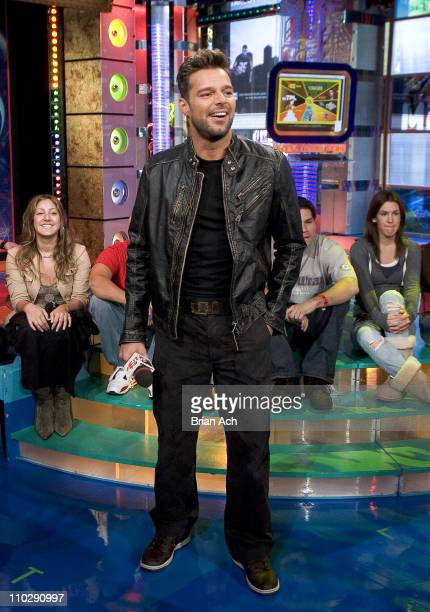 Ricky Martin during Ricky Martin Visits MTV Tr3s' MiTRL November 03 2006 at MTV Studios Times Square in New York City New York United States
