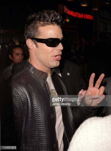 Ricky Martin during Ricky Martin Visits the 'Late Show With David Letterman' May 17 2001 at The Ed Sullivan Theater in New York City New York United...