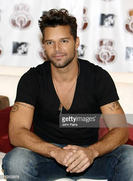 Ricky Martin during Ricky Martin's MTV Unplugged Press Conference August 17 2006 at University of Miami Bankunited Center in Miami Florida United...