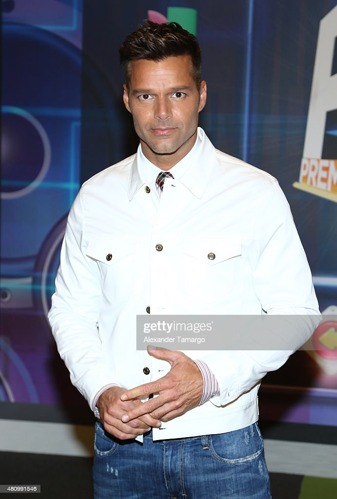 <a gi-track='captionPersonalityLinkClicked' href=/galleries/search?phrase=Ricky+Martin&family=editorial&specificpeople=160450 ng-click='$event.stopPropagation()'>Ricky Martin</a> is seen arriving at Univision's Premios Juventud 2015 at the Bank United Center on July 16, 2015 in Miami, Florida.