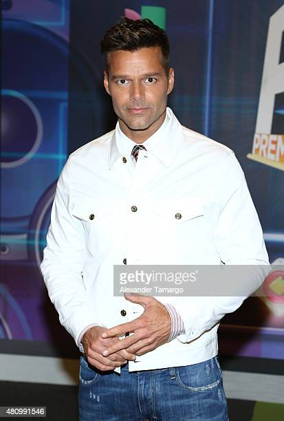Ricky Martin is seen arriving at Univision's Premios Juventud 2015 at the Bank United Center on July 16 2015 in Miami Florida