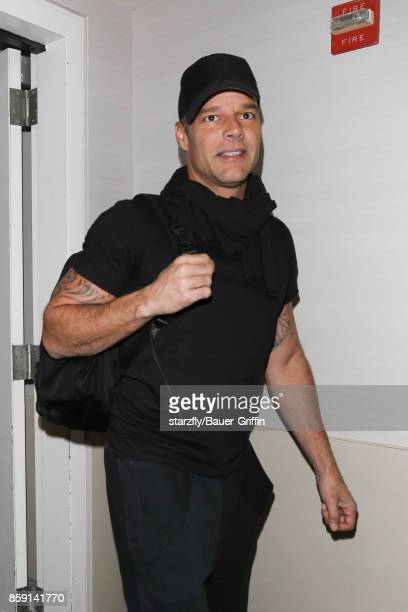Ricky Martin is seen at LAX on October 08 2017 in Los Angeles California