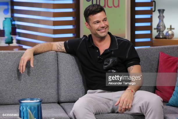 Ricky Martin is seen on the set of 'El Gordo y La Flaca' at Univision Studios on February 21 2017 in Miami Florida
