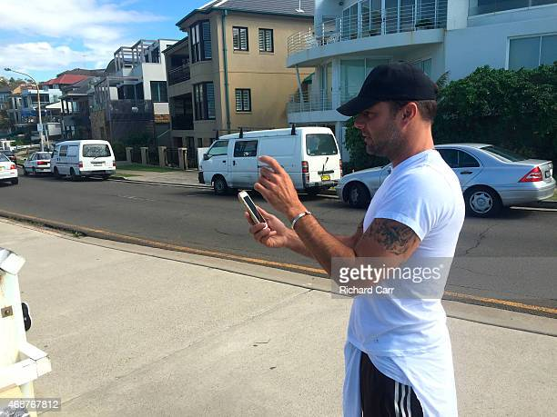 Ricky Martin is seen walking at Bronte Beach on April 7 2015 in Sydney Australia