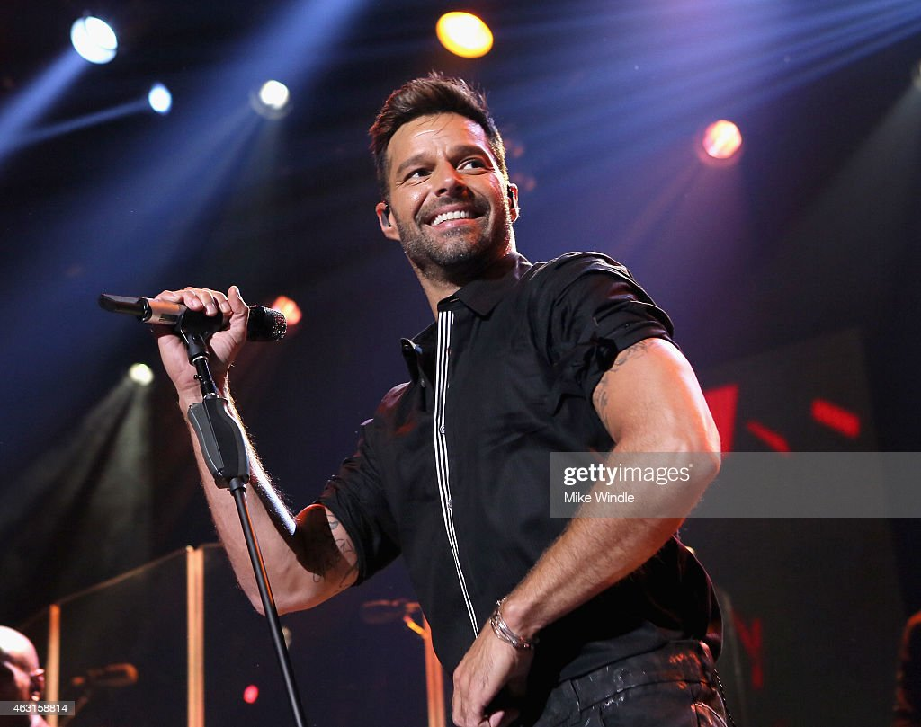 <a gi-track='captionPersonalityLinkClicked' href=/galleries/search?phrase=Ricky+Martin&family=editorial&specificpeople=160450 ng-click='$event.stopPropagation()'>Ricky Martin</a> on the Honda Stage at the iHeartRadio Theater Los Angeles on February 10, 2015 in Burbank, California.