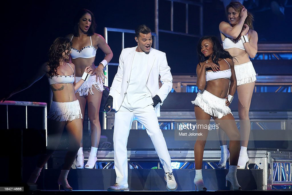 Ricky Martin performs at Perth Arena on October 12, 2013 in Perth, Australia.