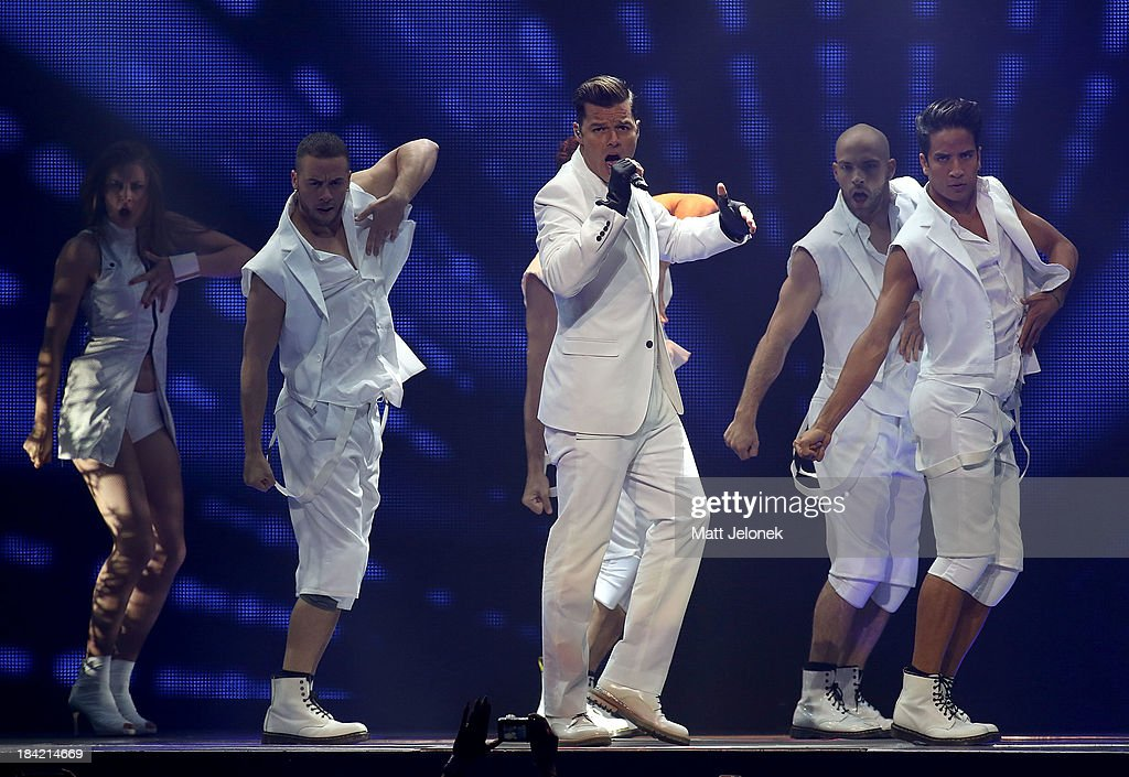 <a gi-track='captionPersonalityLinkClicked' href=/galleries/search?phrase=Ricky+Martin&family=editorial&specificpeople=160450 ng-click='$event.stopPropagation()'>Ricky Martin</a> performs at Perth Arena on October 12, 2013 in Perth, Australia.