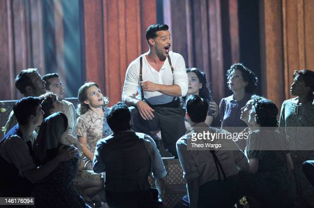 Ricky Martin performs from 'Evita' onstage at the 66th Annual Tony Awards at The Beacon Theatre on June 10 2012 in New York City