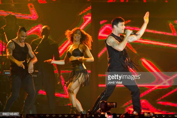 Ricky Martin performs on stage at Palau Sant Jordi on May 30 2017 in Barcelona Spain