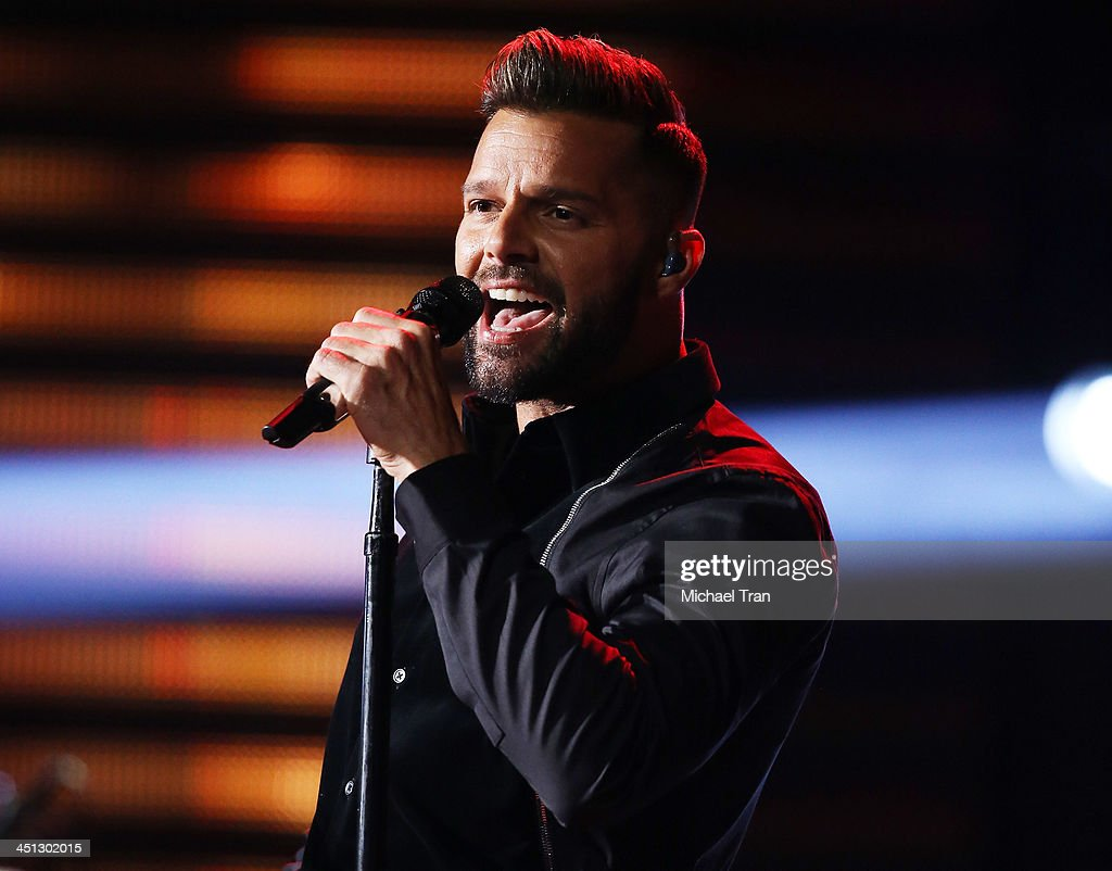<a gi-track='captionPersonalityLinkClicked' href=/galleries/search?phrase=Ricky+Martin&family=editorial&specificpeople=160450 ng-click='$event.stopPropagation()'>Ricky Martin</a> performs onstage during the 14th Annual Latin GRAMMY Awards held at Mandalay Bay Resort and Casino on November 21, 2013 in Las Vegas, Nevada.