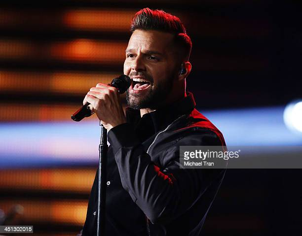 Ricky Martin performs onstage during the 14th Annual Latin GRAMMY Awards held at Mandalay Bay Resort and Casino on November 21 2013 in Las Vegas...