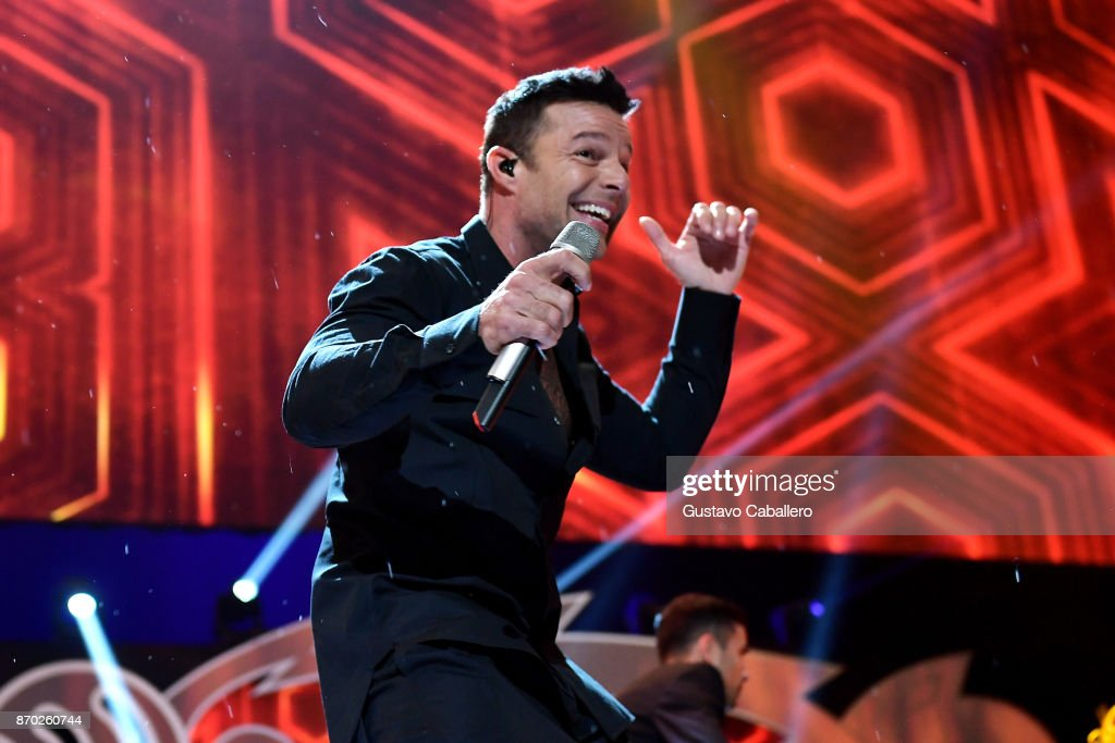 Ricky Martin performs onstage during the iHeartRadio Fiesta Latina: Celebrating Our Heroes at American Airlines Arena on November 4, 2017 in Miami, Florida.