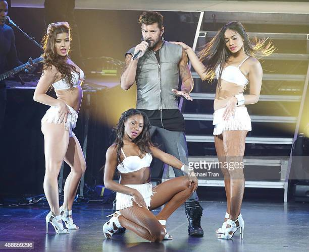 Ricky Martin performs onstage during Toyota's private pop concert held at Nokia Theatre LA Live on March 17 2015 in Los Angeles California