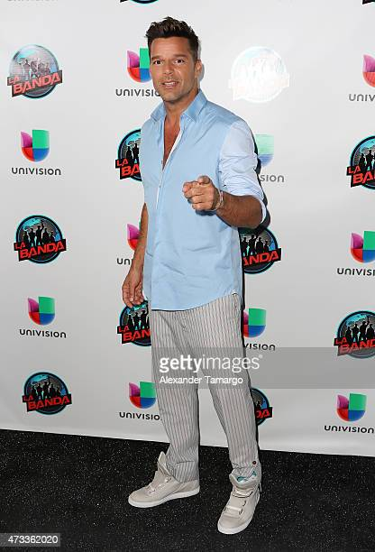 Ricky Martin poses for a photo during 'La Banda' taping on May 14 2015 in Miami Beach Florida
