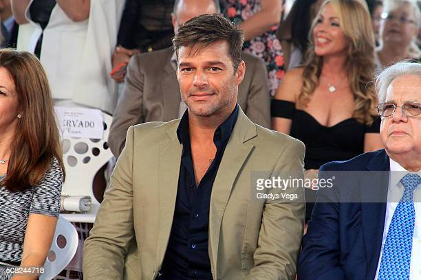 Ricky Martin receives a Star on the Puerto Rico Walk of Fame Paseo de la Fama on February 3 2016 in San Juan Puerto Rico