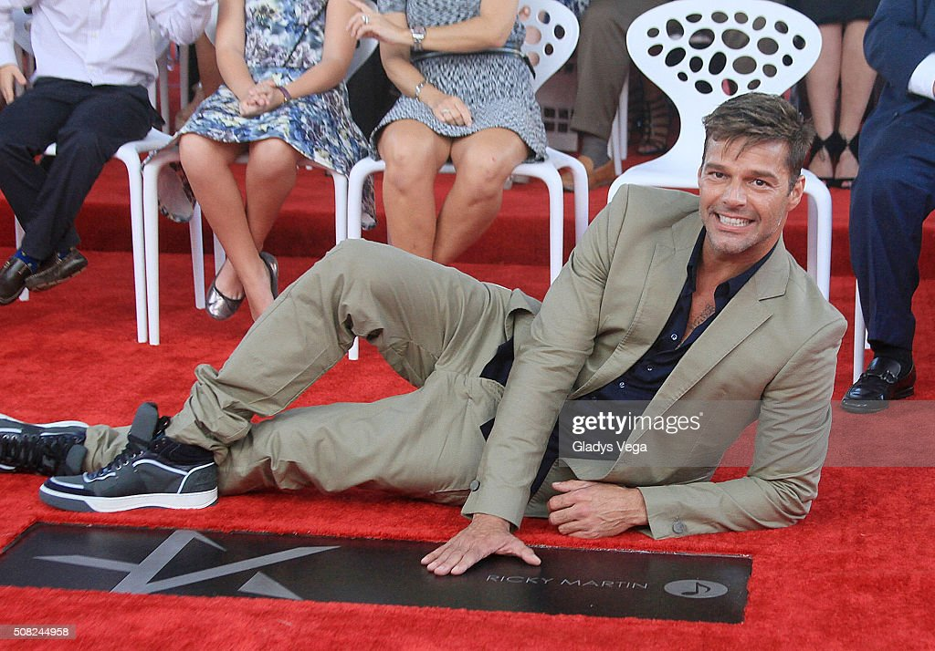 <a gi-track='captionPersonalityLinkClicked' href=/galleries/search?phrase=Ricky+Martin&family=editorial&specificpeople=160450 ng-click='$event.stopPropagation()'>Ricky Martin</a> receives a Star on the Puerto Rico Walk of Fame, Paseo de la Fama, on February 3, 2016 in San Juan, Puerto Rico.