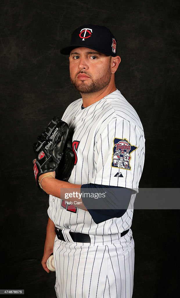 <a gi-track='captionPersonalityLinkClicked' href=/galleries/search?phrase=Ricky+Nolasco&family=editorial&specificpeople=600111 ng-click='$event.stopPropagation()'>Ricky Nolasco</a> #47 of the Minnesota Twins poses for a portrait at Hammond Stadium during photo day on February 25, 2014 in Fort Myers, Florida.