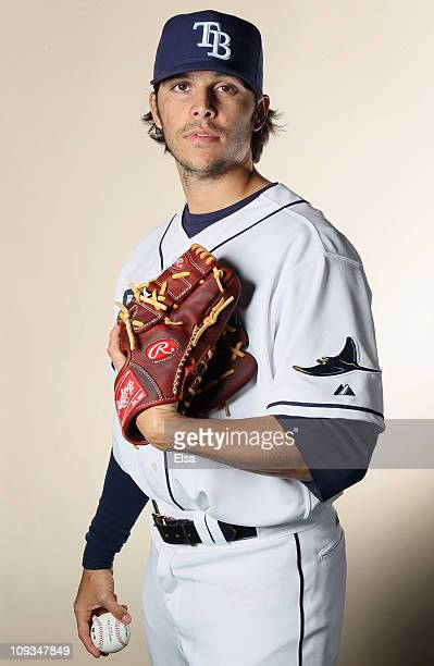 Ricky Orta of the Tampa Bay Rays poses for a portrait during the Tampa Bay Rays Photo Day on February 22 2011 at the Charlotte Sports Complex in Port...