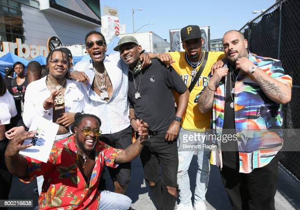 Ricky P Wiz Khalifa Chevy Woods Berner and members of Taylor Gang Entertainment at day two of 2017 BETX Live sponsored by McDonald's at Gilbert...