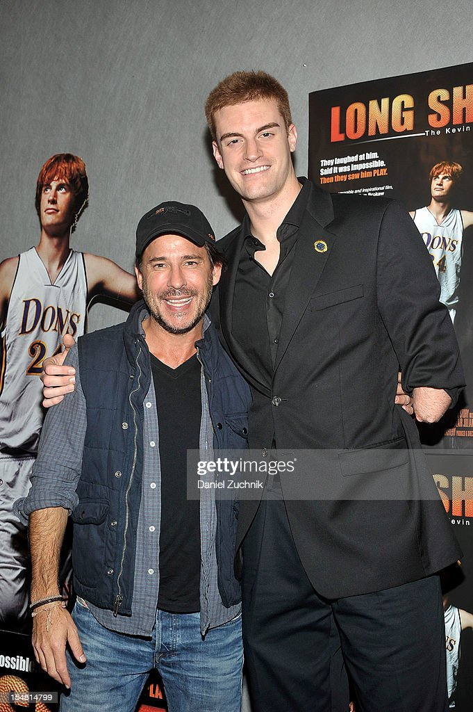 Ricky Paul Goldin and Kevin Laue attend the 'Long Shot: The Kevin Laue Story' New York Premiere at Quad Cinemaon October 26, 2012 in New York City.