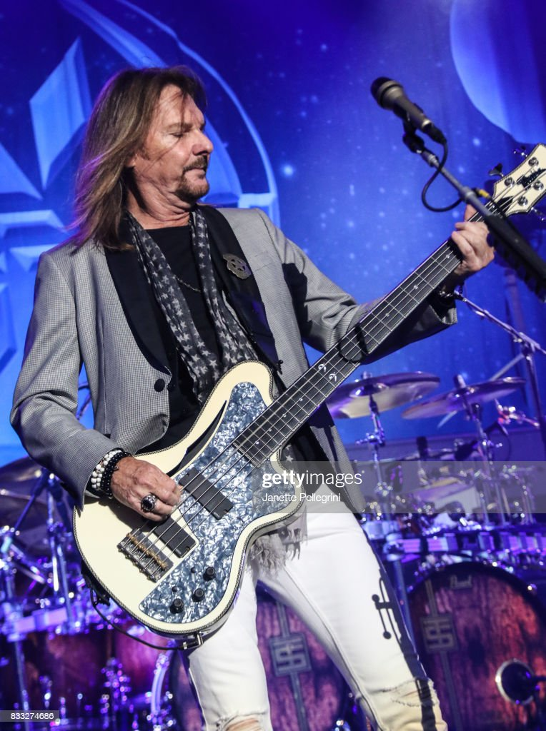 Ricky Phillips from Styx performs in concert at Northwell Health at Jones Beach Theater on August 16, 2017 in Wantagh, New York.