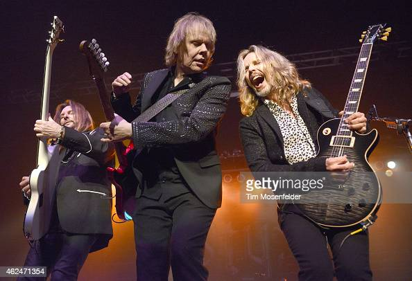 Ricky Phillips James Young and Tommy Shaw of Styx perform at the City National Civic on January 28 2015 in San Jose California