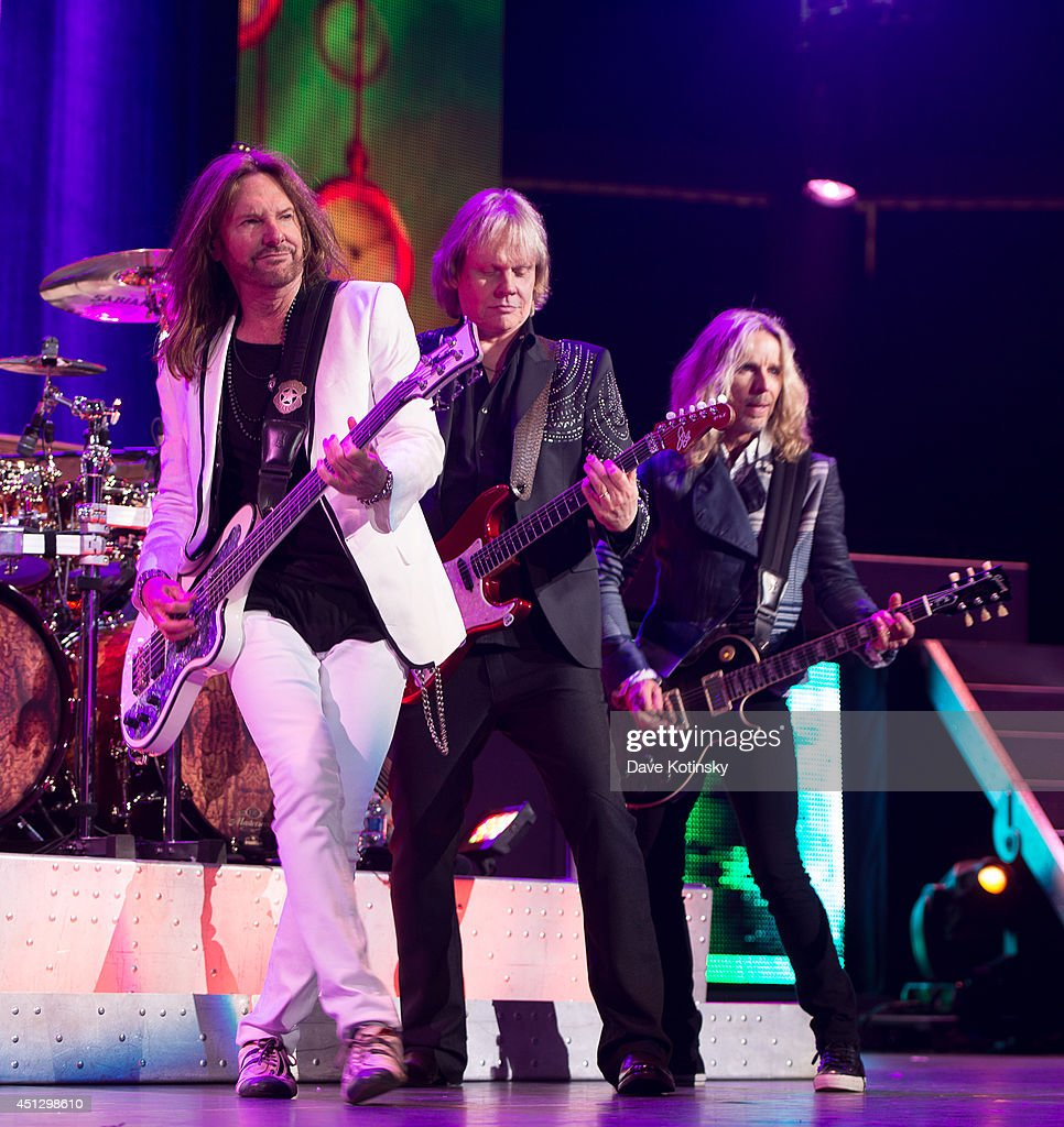 Ricky Phillips, James Young, Tommy Shaw performs at Prudential Center on June 26, 2014 in Newark, New Jersey.