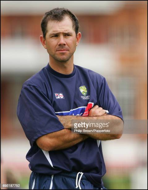 Ricky Ponting of Australia before the 1st Ashes Test match between England and Australia at Lord's Cricket Ground in London on July 19th 2005